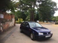 Volkswagen Golf 1999 Dark blue 5 door 1.6 SE petrol clean car