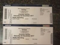 2 X Orbital tickets - Dec 2nd Hammersmith Apollo