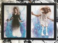 REDUCED Harry Potter A4 Prints Dobby Bellatrix