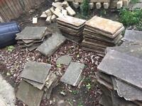 Various yorkshire stone and Indian stone flags and bricks