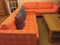 IKEA sofa - KARLSTAD Husie orange GB So3 & So2