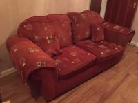 CHEAP USED RED SOFAS FOR SALE £250