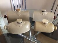 4 X ANTIQUE BED WARMERS