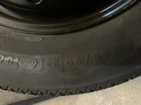 Nissan quashqai spare wheel 2014-18