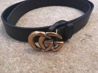 Gucci belts unisex black 30 inch