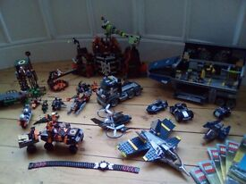 Lego Agents Command Centre 3685, Volcano Base 8637 plus other lego