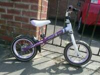 Girls first balance bike