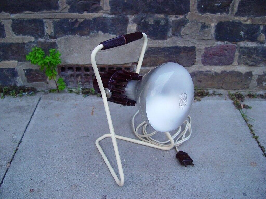Vintage Sun Light Tanning Lamp Retro Mid Century S