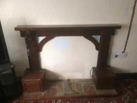 Dark wooden Fireplace