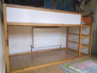 IKEA medium Height cabin - bunk childs bed excellent condition