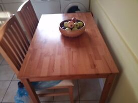 dinning table & 4.6 chairs