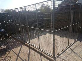 Galvanised dog enclosure
