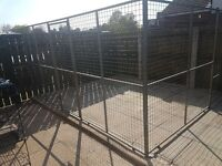 Galvanised dog enclosure