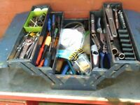 hand tools and box