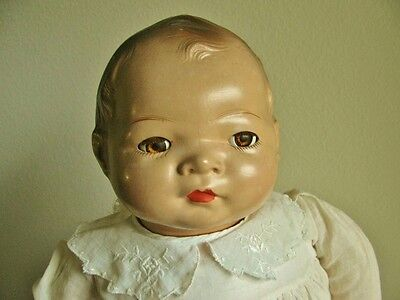 ANTIQUE VINTAGE 1940'S AMERICAN CHARACTER LITTLE LOVE COMPOSITION BABY DOLL, 20""