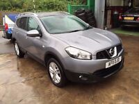 2011 NISSAN QASHQAI +2 , ACENTA 1.5 DCI, 7 SEATER, 57,900 GENUINE MILES HPI CLEAR FINANCE AVAILABLE