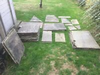 Indian Sandstone Paving Slabs - 18 slabs plus 9 odd shapes