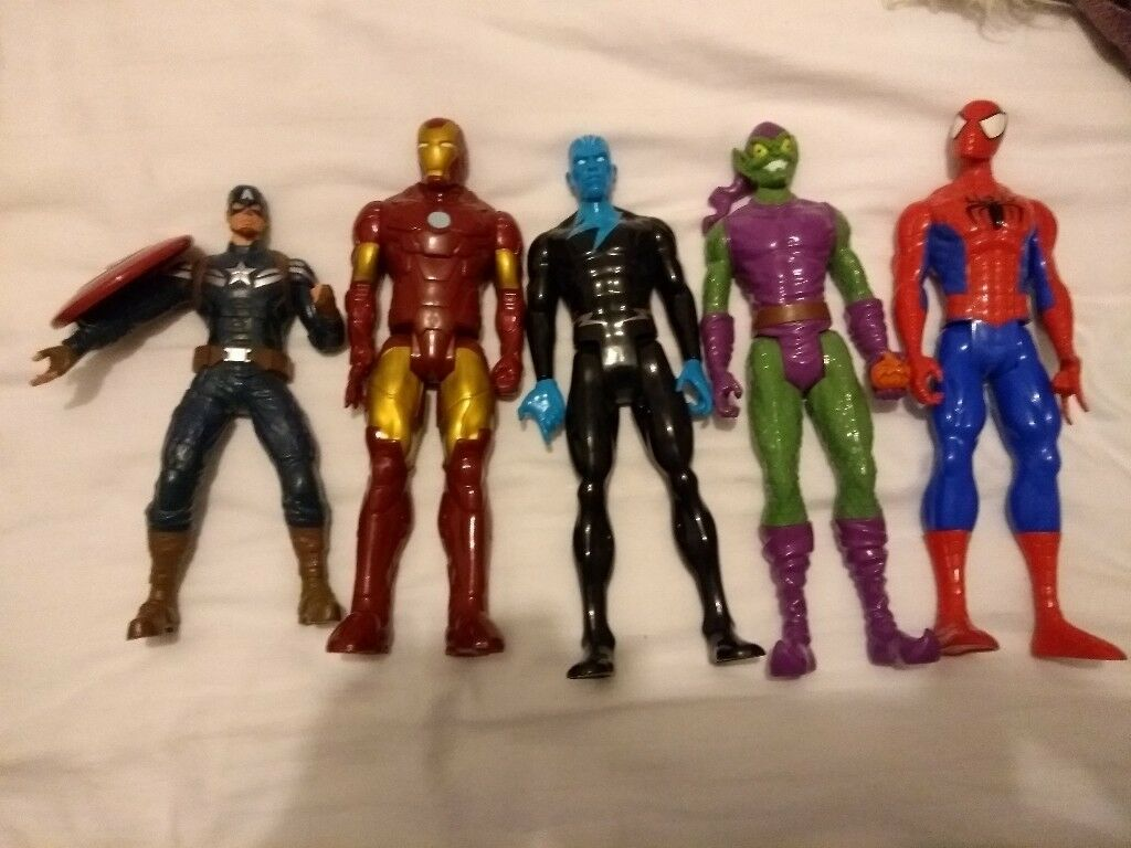 Spiderman Mr Freeze Green Goblin Iron Man Captain America action figures