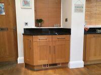 Landsdowne Solid oak kitchen units for sale - excellent condition.