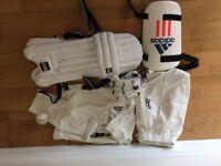 Junior cricket clothes and equipment