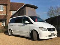 Smart looking Mercedes Campervan 4 berth with poptop roof & rock&roll bed