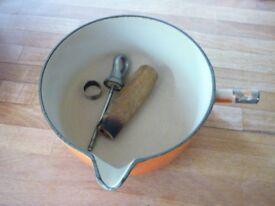 Restoration project Le Creuset saucepan