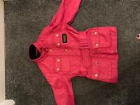 Girls Barbour jacket perfect for school aged 6-7
