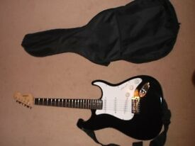Electric Guitar with case and stand