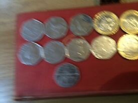 Collection of limited addition coins