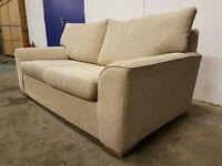 FABRIC BEIGE SOFA BED INC. MATTRESS WITH WOODEN FEETS SETTEE / SUITE / SOFABED DELIVERY AVAILABLE