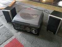 Steepletone record player, cd player and radio