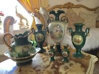 SET OF GILDED FRENCH VASES