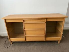 Modern beech wood sideboard