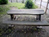 SOLID OAK PICNIC BENCHES