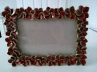 Red Floral Photo Frame
