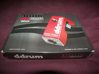 DDrum DDTKIT Acoustic Trigger Set PRO Triggers for Toms , Snare and Bass Drum / Red.