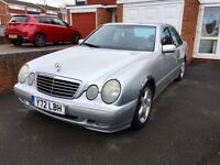 Mercedes E-Class, 2001, Silver, 2.2 DIESEL, 6 Speed Manual, Long Mot and Tax, Full Service History