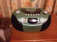 Alba CD, Cassette, Radio.