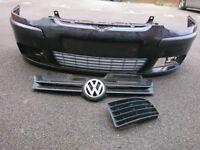 VW Golf Mk5 front bumper *BLACK*