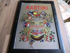 COLOURFUL FRAMED MARTINI ADVERTISING MIRROR