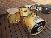 Pearl Masters Custom Drum Kit with Protection Racket Cases