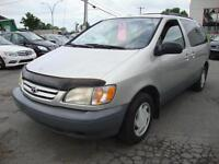 2001 Toyota Sienna 7 PASS CE silver Argent/Silver