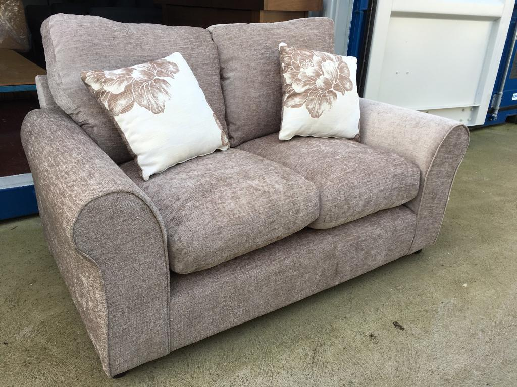 Beige Fabric 2 Seater Sofa New Ex Display In Lincoln