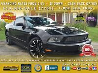 2012 Ford Mustang Coupe v6-$84/wkly-Black Leather-Blue Tooth