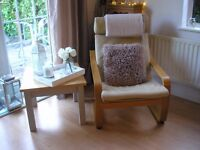 Ikea Beige Leather Chair