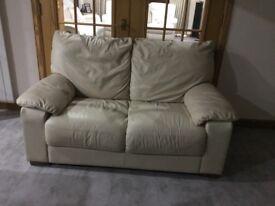2 seeter leather sofa ivory colour