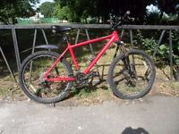 "24 Speed CARRERA Disk Brake Mountain Bike. Fully Serviced & Ready To Ride. Guaranteed. 18"" Frame"