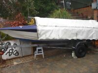 14Ft Speed / Fishing boat 50 Hp Evinrude Used