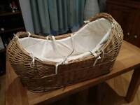 Rocking moses basket - £45 open to offers!