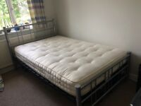 Metal frame Double Bed (Queen) and Mattress